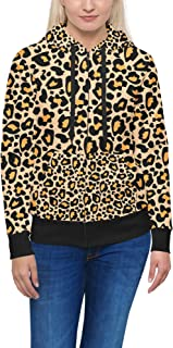 Rainbow Rules Bright Leopard Print Women Zip Up Hoodie