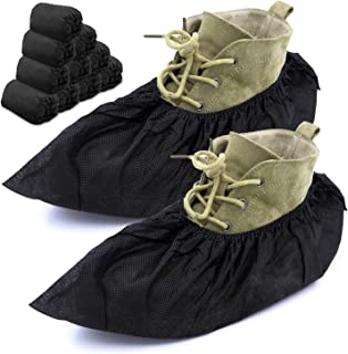 MAGIC DESIGN Professional Shoe Covers - 100 Pack | Sleek Black Disposable Boot and Shoe Booties | One Size Fits Most | Dur...