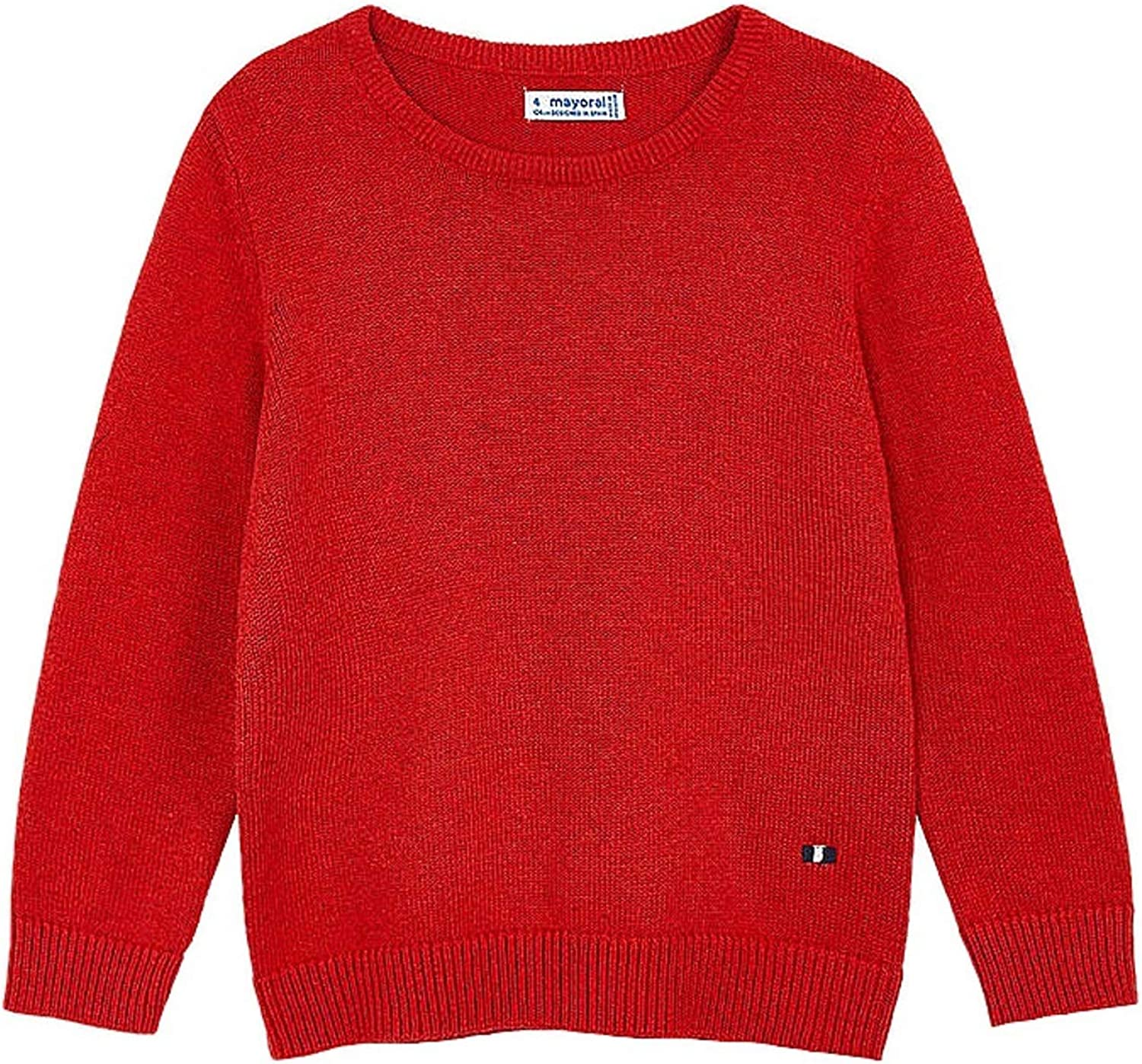 Year-end gift Mayoral - Basic Crew Neck Max 40% OFF Sweater for 0311 vig Boys Flame