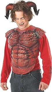 Men's Demon Horns W/Teeth Costume Accessory