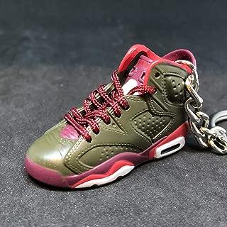 Air jordan VI 6 Retro Cigar Championship Pack Sneakers Shoes 3D Keychain Figure