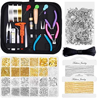 Jewelry Making Kits for Adults, Shynek Jewelry Making Supplies Kit with Jewelry Making Tools, Jewelry Wires, Jewelry Findi...