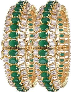 مجوهرات راتافالي تشيكوسلوفاكيا زركونيا الذهب لهجة الأخضر الأحمر الأبيض أساور الماس كادا سوار مجوهرات مفتوحة النساء