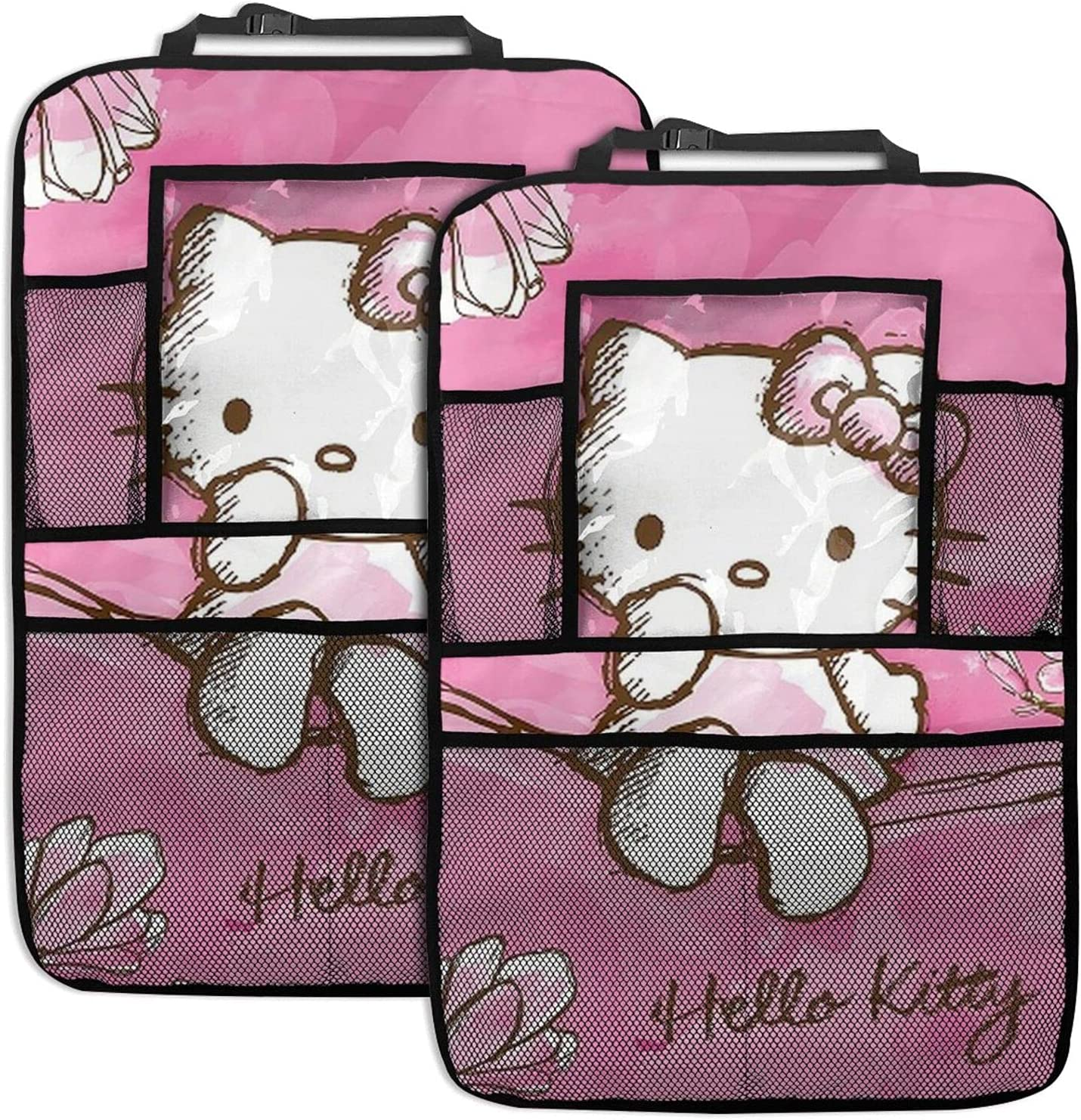 Spring new work one after another Los Angeles Mall Yandong Hello Kitty Backseat Car Mats Back Seat Kick Organizer
