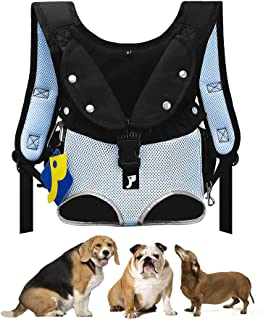Petotw Pet Carrier Backpack with Multi-Function Pocket, Legs Out Front Dog Carrier,with Wide Straps Shoulder Pads,Easy-Fit...
