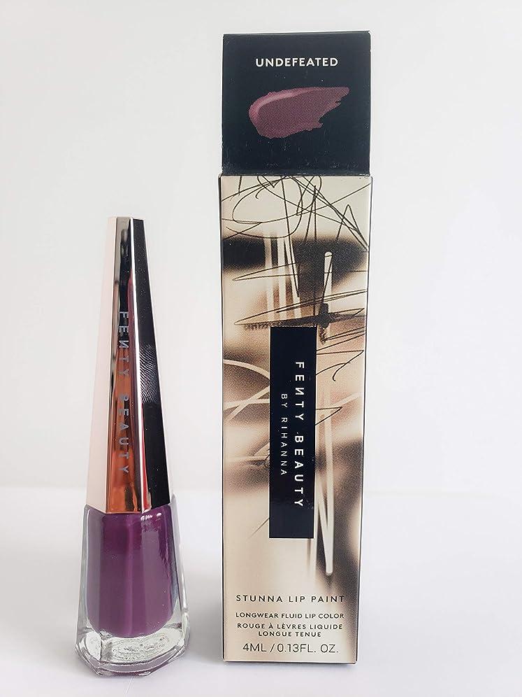 六月リンス喜びFENTY BEAUTY BY RIHANNA Stunna Lip Paint Longwear Fluid Lip Color (Undefeated)
