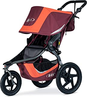 BOB Gear Revolution Flex 3.0 Jogging Stroller - Up to 75 pounds - UPF 50+ Canopy - Adjustable Handlebar - Easy Fold, Sedona Orange
