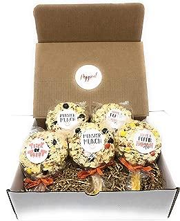 Halloween Popcorn Pops Individually Wrapped Popcorn Ball Marshmallow Food Treat Gluten Free Chocolate Orange Yellow Gift Box