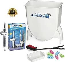 Patent Pending Aquaus 360° Premium Cloth Diaper Sprayer w/ thumb pressure controls on the sprayer- EZ pressure control makes rinsing cloth diapers quick & easy,
