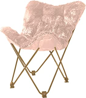 Urban Shop Mongolian Butterfly Chair, Blush