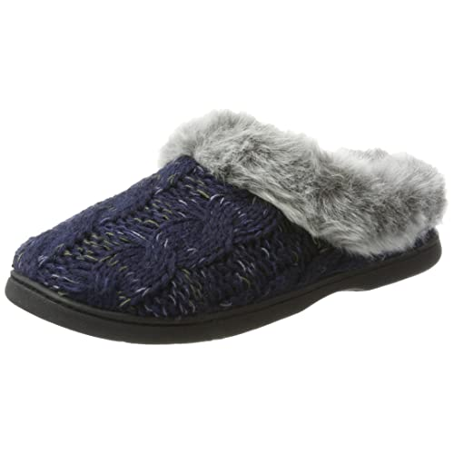 6e22cadcc Dearfoams Women s Cable Knit Clog W Space-dye Accent Low-Top Slippers