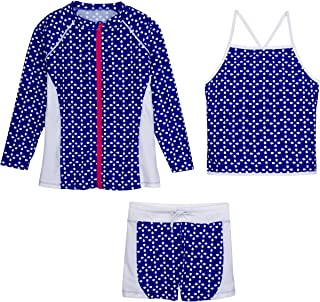 Best girls rash guard swimsuit set with shorts Reviews