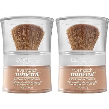 L'Oréal Paris Makeup True Match Loose Powder Mineral Foundation, Buff Beige, 2 Pack