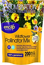 Wildflower Pollinator Mix by ENCAP - 4-in-1 Mix, Annual & Perennial Seeds, Open-Pollinated, Non-GMO, for Bees, Humming Birds, Butterflies, Pollinator with Instructions for Planting a Beautiful Garden