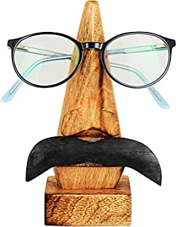Thoughtful Birthday Day Gift Ideas Handcrafted Movember Rosewood Reading Glasses Stand Spectacle Stand or Eye Glass Holder Wooden Tabeltop Display Stand 6 Inches Housewarming Gift Ideas (Design 5)