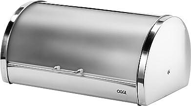 Oggi Stainless Steel Roll Top Bread Box