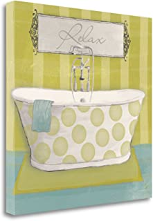 Tangletown Fine Art Polka Tub I Print on Gallery Wrap Canvas, 20 x 20, Multi