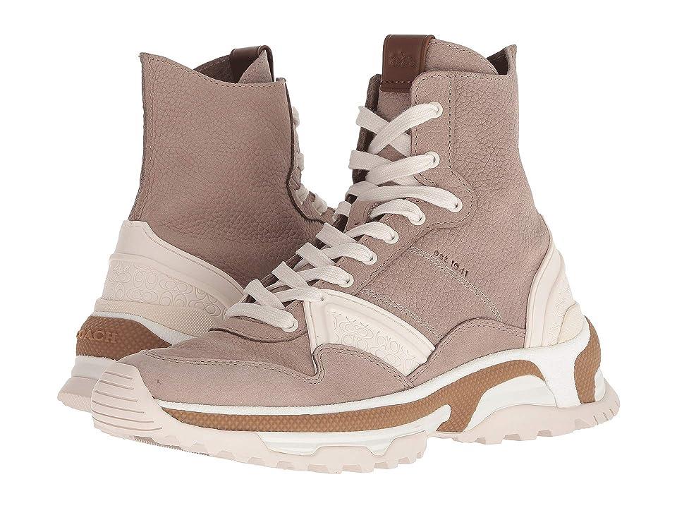 COACH C243 High Top Sneaker (Grey Nubuck) Women