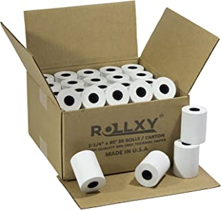 (50 Rolls) 2 1/4 x 85' First Data FD130 FD50 FD400 FD55 FD100Ti Thermal ROLLXY Paper (50 Rolls)