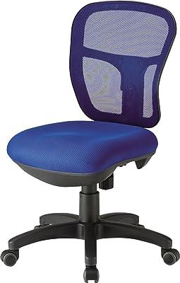 TOKIO デスクチェア オフィスチェア 肘なし CF-2M ブルー 幅57.5×奥58.6×高87.3~96.3 座面高さ45~54cm