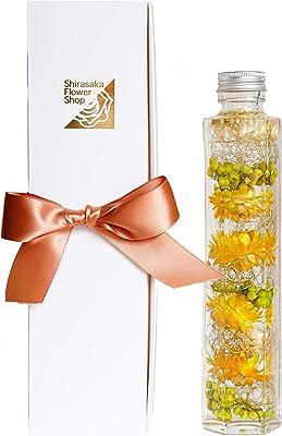 Amazon 獲得店舗 化粧箱入ハーバリウム Mサイズ (イエロー&グリーン)