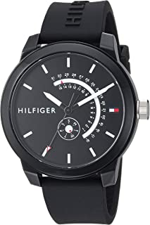 Tommy Hilfiger Men's Denim Quartz Watch with Silicone...