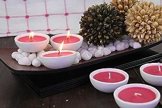 Hosley Set of 6 Highly Scented Apple Cinnamon Ceramic Diyas