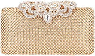 Fawziya Evening Clutches Crystal Crown Velvet Cocktail Purses For Women