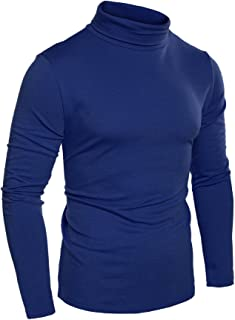 COOFANDY Mens Slim Fit Basic Thermal Turtleneck T Shirts Casual Knitted Pullover Sweaters