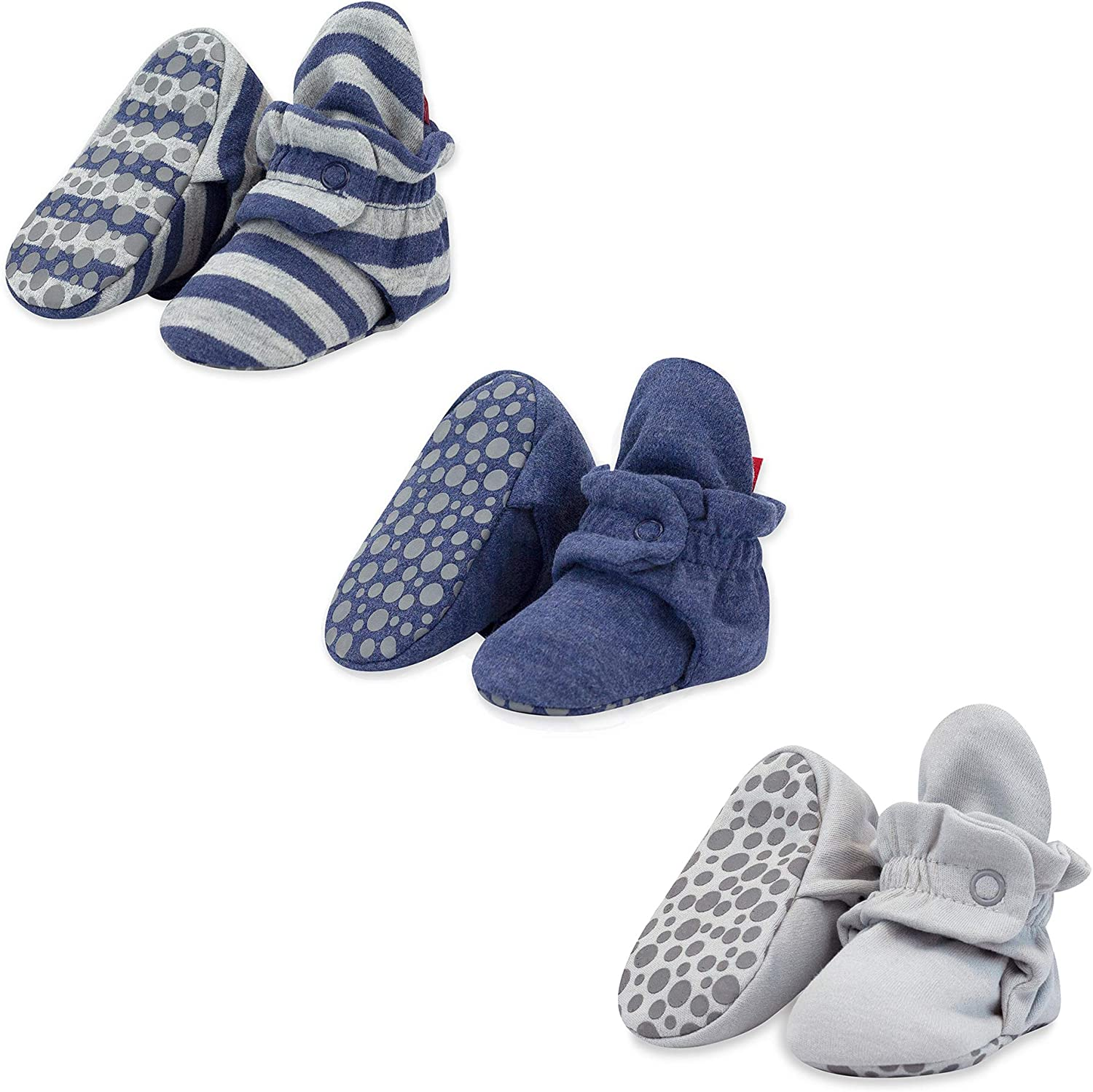 Zutano Cotton Baby Booties with Soft Soles Under blast sales Sole Stay-On Credence Gripper