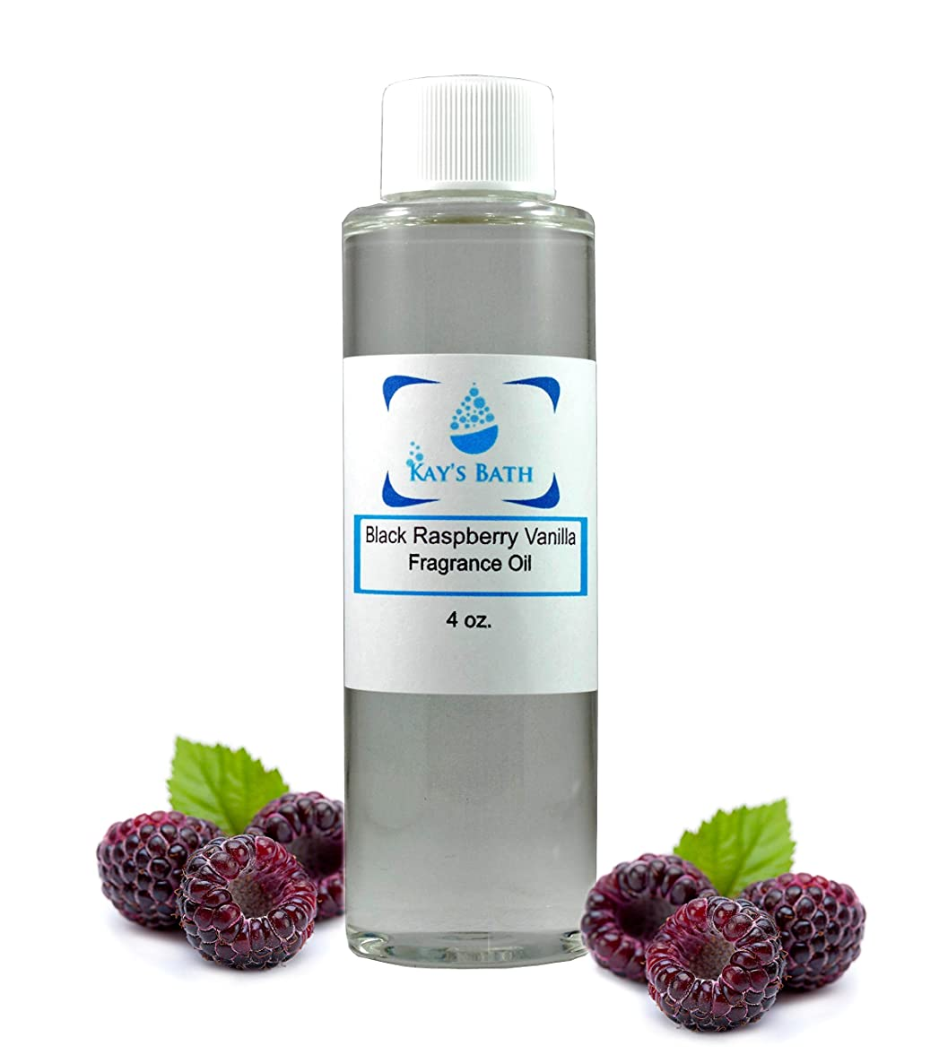 Black Raspberry Vanilla Fragrance Oil - Essential for Candles, Bath Bombs, Perfume. Diffusers, Body Butter, Lotions and Soap Making - Works for All Bath and Body Products - 4 oz. (4 oz)