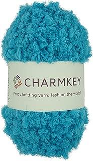 Charmkey Soft Fur Yarn Super Fluffy 5 Chunky 100% Polyester Flower Holiday Baby 12 Ply Knitting Eyelash Yarn for Furry Amigurumi Toys Shawls Scarves, 1 Skein, 3.53 Ounce (Lagoon)