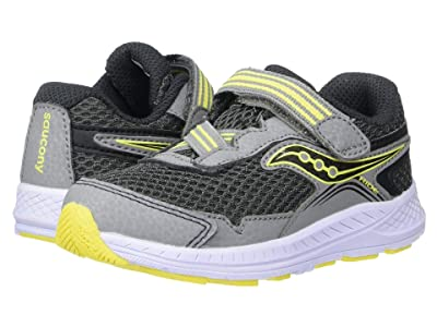 Saucony Kids Ride 10 Jr (Toddler/Little Kid) (Grey/Yellow) Boys Shoes