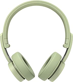 Urbanista Detroit - Wireless Bluetooth On-Ear Headphones, On-board Controls, 12H Playtime, with Built-in Mic, Aux port, Fast Charging, Compatible with Android and IOS - Spring Green