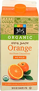 365 Everyday Value, Organic Orange Juice, Not From Concentrate, 59 fl oz