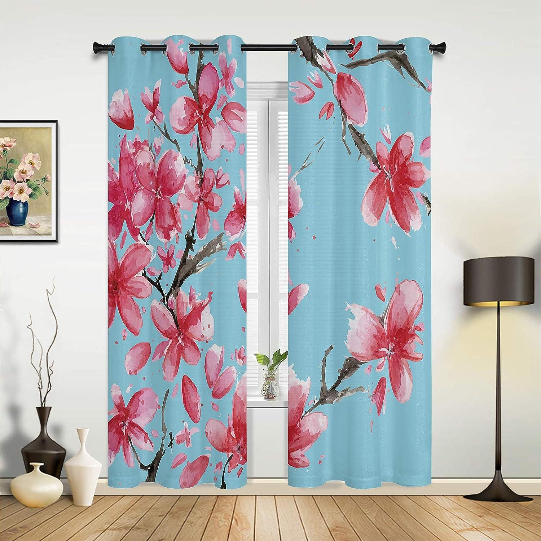 Window Curtains Drapes Rapid rise Panels Spring Beautifu Pink Peach Blossom Oklahoma City Mall