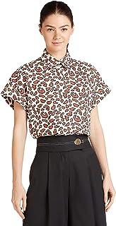 Iconic Women's 2091040 SS23ANIMSHT Woven Body Blouse, Multicolor