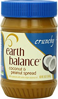 Earth Balance Coconut and Peanut Butter Spread, Crunchy, 16 Ounce (Pack of 12)