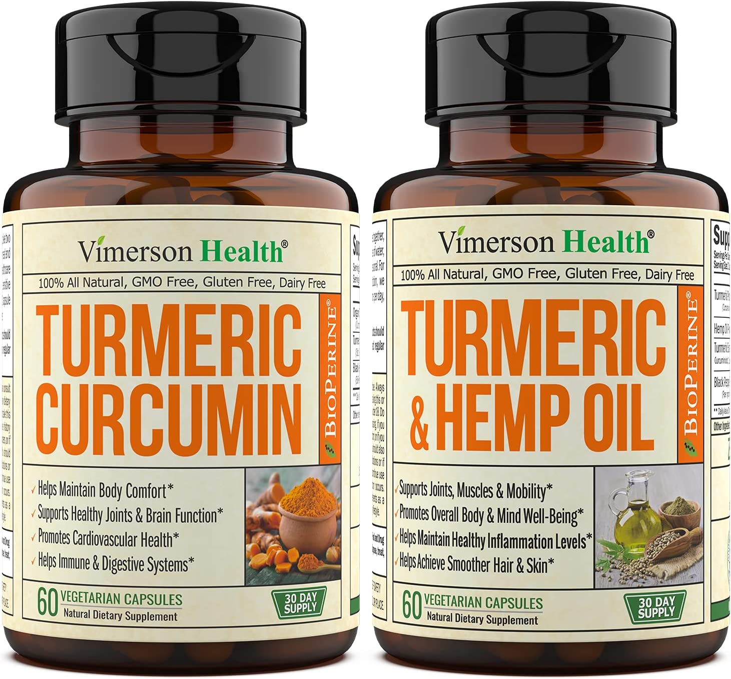 Vimerson Health Turmeric Curcumin BioPerine with + New product Import type Hemp