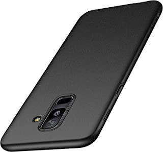 Galaxy A6 Plus Case,Kqimi Galaxy A6+ Case [Ultra-Thin] Premium Material Slim Full Protection Cover for Samsung Galaxy A6+ (6 inch) 2018 (Gravel Black)