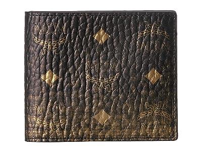 MCM Gradation Visetos Flap Wallet/Two-Fold Small (Gold) Handbags