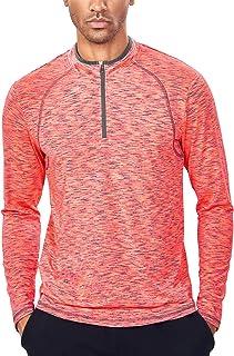 Mens Quarter Zip Pullover Lightweight 1/4 Zip Running Top