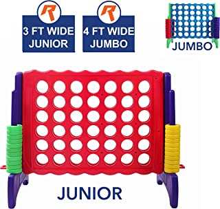 Giant 4 in A Row, 4 to Score - Premium Plastic Four Connect Game JUNIOR