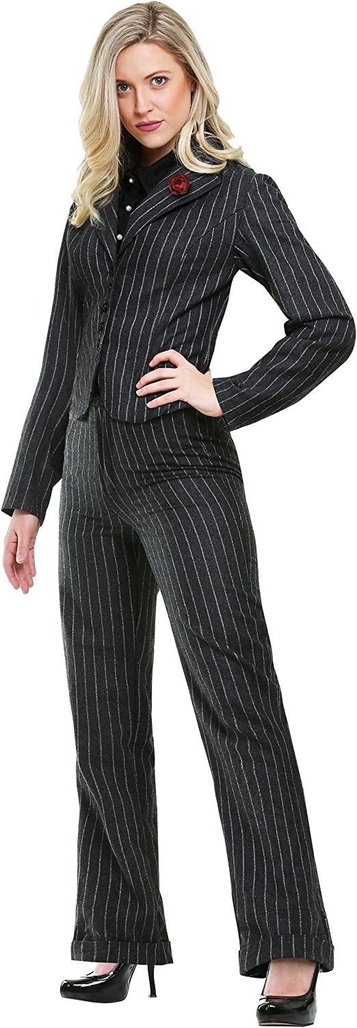 Fun Costumes Female Gangster Fancy dress costume Small
