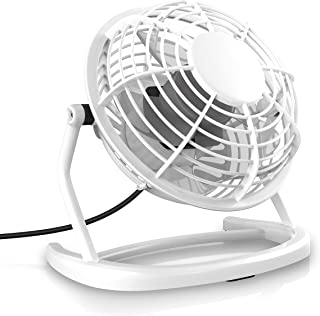 CSL - Ventilador USB - Ventilador de Mesa - Ventilador - PC - Portátil - En Blanco