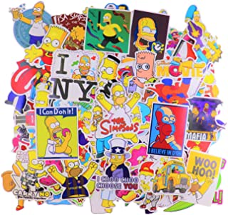 Laptop Sticker Pack (100Pcs) The Simpson Waterproof Vinyl Stickers for Water Bottles,Laptop,Kids,Cars,Motorcycle,Bicycle,Skateboard Luggage,Bumper Stickers Hippie Decals Bomb