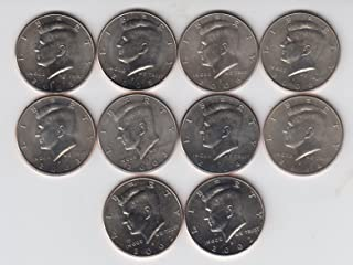 2002 To 2006 P & D Kennedy Half Dollars (10) Coins 5 Years Uncirculated