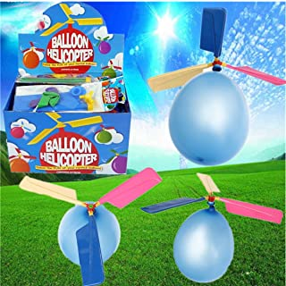 GENERIC Colorful Traditional Classic Balloon Helicopter Portable Toy