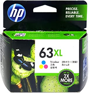 HP 63XL Original Tri-Color Ink Cartridge (F6U63AA)
