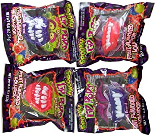 Halloween Spooky Lips Fruit Flavored Lollipops, Pack of 4